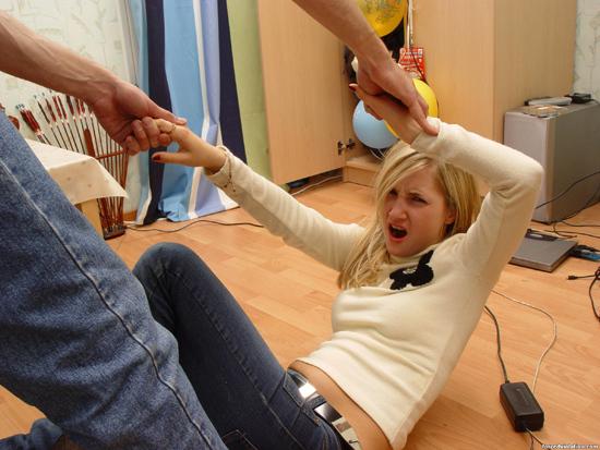 Ролевые игры темпераментной блонды и её парня - фото #5